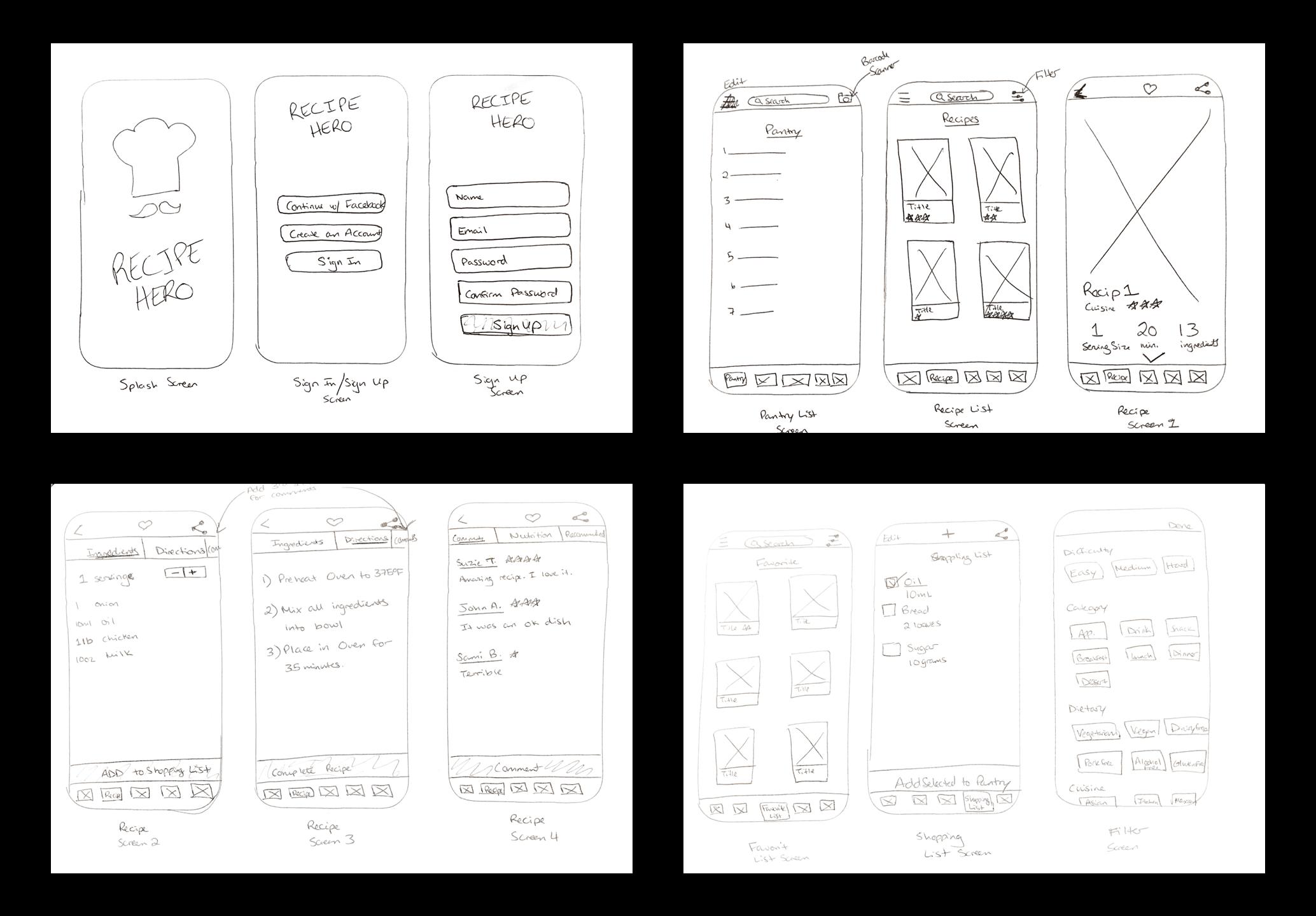 Recipe Hero Sketch 1